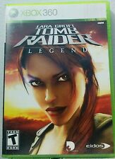 LARA CROFT TOMB RAIDER LEGEND (Microsoft Xbox 360, 2006) GOOD CONDITION COMPLETE