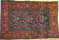 Marvelous Malayer - 1900s Antique Hamadan Rug - Persian Tribal Carpet 5 x 7.5 ft