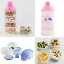 Baby Infant Feeding Milk Powder Food Bottle Container Grid Box Sassy