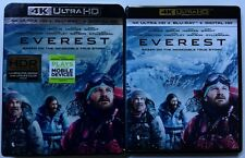 EVEREST 4K ULTRA HD BLU RAY 2 DISC SET + SLIPCOVER SLEEVE FREE WORLD SHIPPING