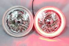 """1965-1978 FORD MUSTANG 7"""" Round 6014/6015/6024  RED  LED SMD Halo Headlights"""