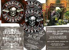 AVENGED SEVENFOLD City of Evil 3 PROMO STICKERS for cd All Excess MINT!