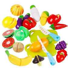 HOT ! 20 PCS Plastic Child Role Play Kitchen Fruit Vegetable Food Toy Cutting