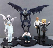 6pcs Death Note L Lawliet Nia Light Yagami Misa Ryuk Rem 6-16cm PVC Figure Loose