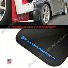 RALLY ARMOR UR MUD FLAPS FOR 2012-2016 VELOSTER TURBO & NON-TURBO BLACK / BLUE