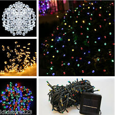 Solar 100 LED Fairy String Lights Outdoor Party Decorate Lights