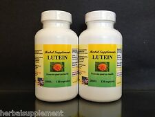Lutein 20mg +Zeaxanthin, Vision Aid, Made in USA ~ 240 (2x120) capsules