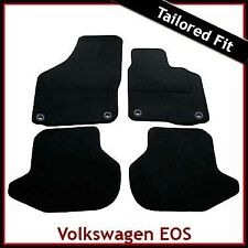 Volkswagen VW EOS 2006-2015 Oval Fixings Tailored Fitted Carpet Car Mats BLACK
