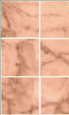 Dollhouse / No-Wax Marble Pink Flooring 11-1/2 x 8-3/4 #MH5955