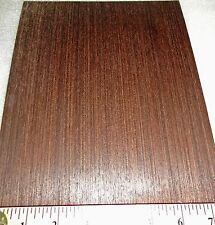 """African Wenge composite wood veneer 8"""" x 10"""" with paper backer (1/40th"""" thick)"""