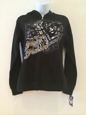 NWT Metal Mulisha Scandalous Black Zip Fleece Ladies Hoodie M33722301X