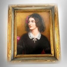 R P M Germany painted porcelain plaque of Lola Montez - FREE SHIPPING