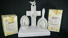 Precious Moments - Make A Joyful Noise - Easter Egg / Bell / Religious Cross 3Pc