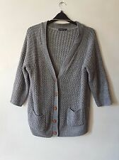 GORGEOUS SIZE 20 VINTAGE STYLE CHUNKY GREY SLOUCH BOYFRIEND CARDIGAN