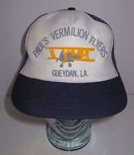 Vintage Pauls Vermilion Flyers Trucker Hat - Gueydan LA - Aviation - Bi Plane
