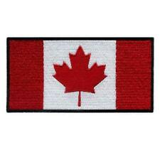 "CANADA FLAG IRON ON PATCH 3"" Embroidered Applique Canadian Pride National Emblem"