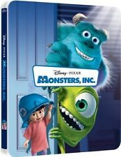 Monsters, Inc. Limited Edition SteelBook 3D [Blu-ray 3D + 2D, Region Free] NEW