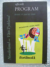1958 World Cup Programme NORTHERN IRELAND v WEST GERMANY 15 June (Original* Exc)