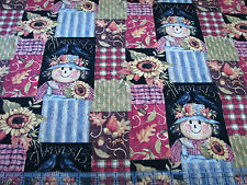 3 Yards Quilt Cotton Fabric - Springs Harvest Time Scarecrow Patch