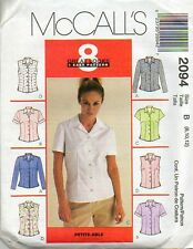 Reduced!!  McCall's 2094 Misses' Blouse 8 Great Look - 1 Easy Pattern 4-6-8