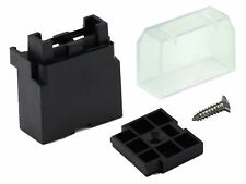5 x 1 way Standard Blade Single Fuse Holders / Boxes  + Covers + Plate