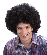 70's Disco Large Curly Afro Wig for Fancy Dress Accessories Black