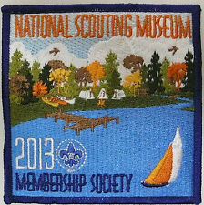 BSA BOY SCOUTS OF AMERICA NATIONAL SCOUTING MUSEUM MEMBERSHIP SOCIETY PATCH 2013
