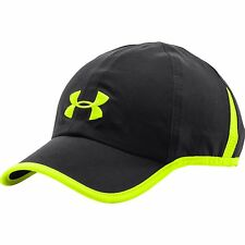 NEW UNDER ARMOUR Heat Gear Shadow Running Hat Cap men Black Neon 1257748