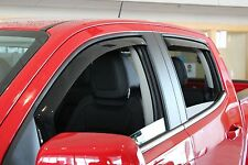 In-Channel Wind Deflector Shades for a 2015 - 2016 GMC Canyon Crew Cab