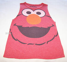 Sesame Street Elmo Ladies Red Printed Sleeveless Muscle Top Size S New