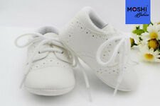 Baby Brogues Formal Soft Pram Cot Wedding Christening Suit Shoes by Moshi Babies