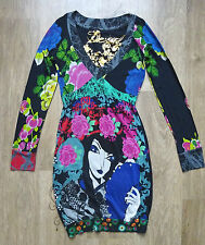 DESIGUAL Women`s Dress  Long Sleeve Floral Embroidered Tunic ,Size XS ,VGC !!!!