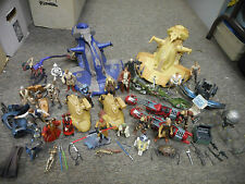 18 Star Wars figures + Trade Federation Tank AAT x2 speeder bike Yoda jedi Queen