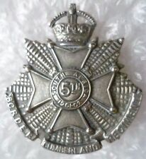5th Battalion Border Cumberland Regt South Africa Badge-KC, 100% ORG*-8 point st