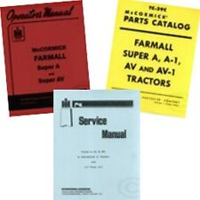 FARMALL Super A AV SERVICE C-113 OPERATORS PARTS MANUAL