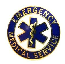 EMS Collar Device Pin Emergency Medical Service Blue Gold Trim Star of Life 54G2