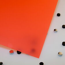 """1/8"""" Frosted Poppy  Cell Cast Acrylic Sheet  24 x 48"""
