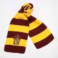 Harry Potter Gryffindor Yellow & Red Knitted Scarf Hogwarts UK Winter Skiing