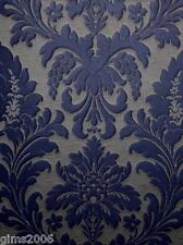 Trianon Blue / Grey Damask Wallpaper 513684