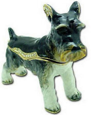 SCHNAUZER DOG JEWELED TRINKET BOX PHB - GREAT!!!