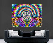 TRIPPY PSYCHEDELIC POSTER BRIGHT COLOURS ABSTRACT HUGE IMAGE GIANT PRINT POSTER