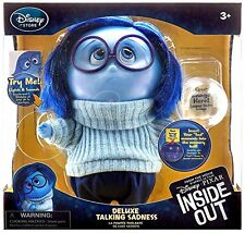 Disney / Pixar Inside Out Sadness Talking Action Figure movie gift kids doll toy