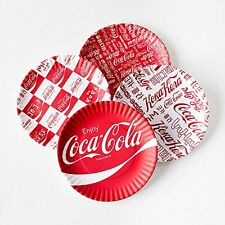 "Coca-cola ""Around the World"" Picnic / Dinner Plate  9 Inch Melamine  Set of 4  &"