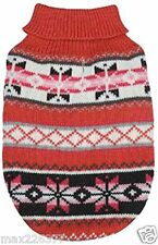 New Nordic Design Dog Sweater Chalet pink White Snowflake Zack & Zoey XLarge XL
