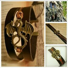 Game Of Thrones, Daenerys Targaryen, Dragon Genuine Leather Bracelet, U.S SELLER