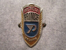 Vintage Prince Bicycle Deluxe Aluminum Head Badge Name Plate