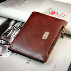 New Ladies Men Leather Purse Wine Red Zip Wallet Credit ID Card Holder Fashion