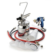 DeVILBISS FinishLine 4 Pressure Feed HVLP Paint Spray Gun & 2 Quart Cup Pot Kit