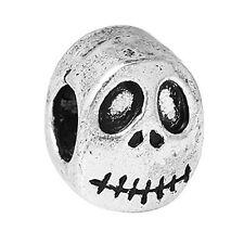 Nightmare Before Christmas Halloween Skull Charm Bead for European Snake Chain C