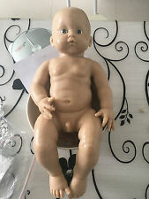 Soft solid silicone reborn baby doll, unpainted doll kit newborn  infant